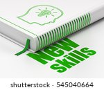 learning concept  closed book...   Shutterstock . vector #545040664