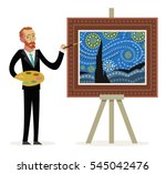 Impressionist Painter Creating...