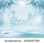 winter bright background....   Shutterstock . vector #545049784