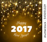 happy new year 2017 greeting... | Shutterstock .eps vector #545051329