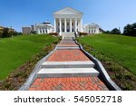the virginia state capitol... | Shutterstock . vector #545052718