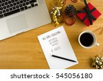 new year's resolution on the... | Shutterstock . vector #545056180