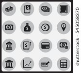 set of 16 editable banking...