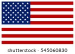 American Flag Vector Icon.