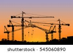 silhouette of construction... | Shutterstock . vector #545060890