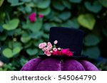 Stock photo mad hatter hat decorated with flowers 545064790