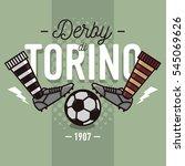 turin derby in italian label...   Shutterstock .eps vector #545069626