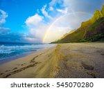 Rainbow Over Na Pali  Kauai...