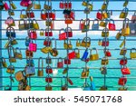 Love Locks Hanging On A Lookou...
