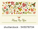 happy new year card design. a... | Shutterstock .eps vector #545078734