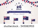 26 january. australia day...   Shutterstock .eps vector #545083903