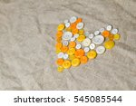 white and yellow buttons in the ... | Shutterstock . vector #545085544