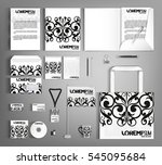 white corporate identity...   Shutterstock .eps vector #545095684