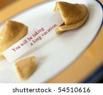 open fortune cookie with saying ... | Shutterstock . vector #54510616