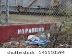 No Parking Sign Stenciled On...