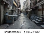 dirty alley in istanbul  turkey   Shutterstock . vector #545124430