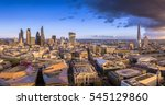 london  england   panoramic... | Shutterstock . vector #545129860