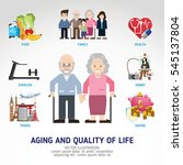 aging and quality of life.... | Shutterstock .eps vector #545137804