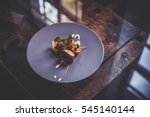 beautiful and delicious food on ... | Shutterstock . vector #545140144