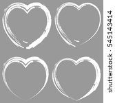 hearts icons set  white hand... | Shutterstock .eps vector #545143414