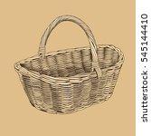 vintage basket in woodcut style | Shutterstock .eps vector #545144410