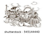 basket of vegetables | Shutterstock .eps vector #545144440
