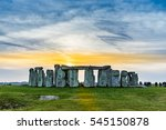Sunset At The Stonehenge