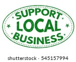 support local business grunge... | Shutterstock .eps vector #545157994