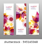 set of three banners   abstract ... | Shutterstock .eps vector #545165368
