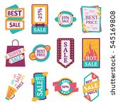 set of commercial sale stickers ... | Shutterstock .eps vector #545169808