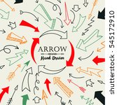 set of arrow hand drawn design... | Shutterstock .eps vector #545172910