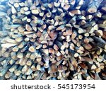firewood logs background and... | Shutterstock . vector #545173954