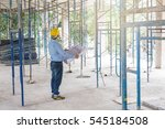young business man construction ... | Shutterstock . vector #545184508