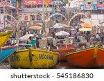 india uttar pradesh varanasi. ... | Shutterstock . vector #545186830