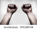 dirty hands  in gray | Shutterstock . vector #545188768