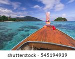 traditional thai longtail boat... | Shutterstock . vector #545194939