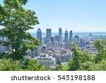 scenic view of summer montreal   Shutterstock . vector #545198188