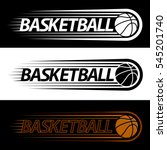 colorful basketball court logo... | Shutterstock .eps vector #545201740