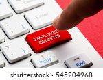 employee benefits word concept... | Shutterstock . vector #545204968