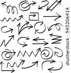 set of arrow hand drawn design... | Shutterstock .eps vector #545206414