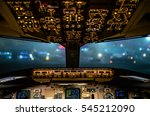 cockpit view of commercial... | Shutterstock . vector #545212090