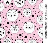 cute seamless pattern with... | Shutterstock .eps vector #545213230