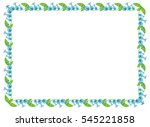 beautiful frame with decorative ... | Shutterstock .eps vector #545221858
