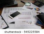 business accessories  laptop ... | Shutterstock . vector #545225584