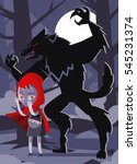 red hood with a basket and... | Shutterstock .eps vector #545231374