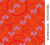 seamless floral pattern with...   Shutterstock .eps vector #545233486