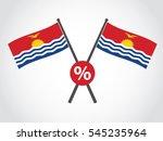 kiribati emblem percentage | Shutterstock .eps vector #545235964