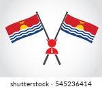 kiribati emblem corrupt... | Shutterstock .eps vector #545236414