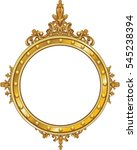 round photo frame  metal gold ... | Shutterstock .eps vector #545238394