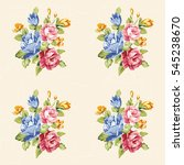 seamless floral pattern with... | Shutterstock .eps vector #545238670